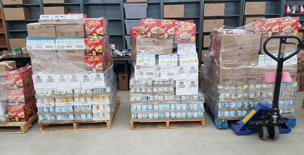 DLO donates more than 400 food baskets to Oklahoma DHS