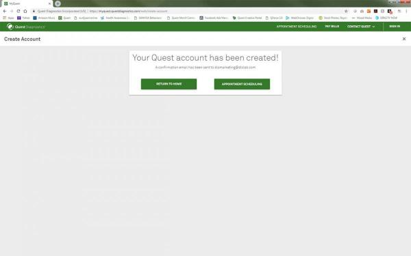MyQuest Account Creation Step 7