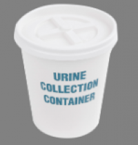 Supply # U05 Urine Cup, Disposable w/ lid (100/pk)